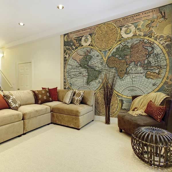 Old-Map-in-Colour-Wall-Mural-XLWS0043-in-a-living-room-scene
