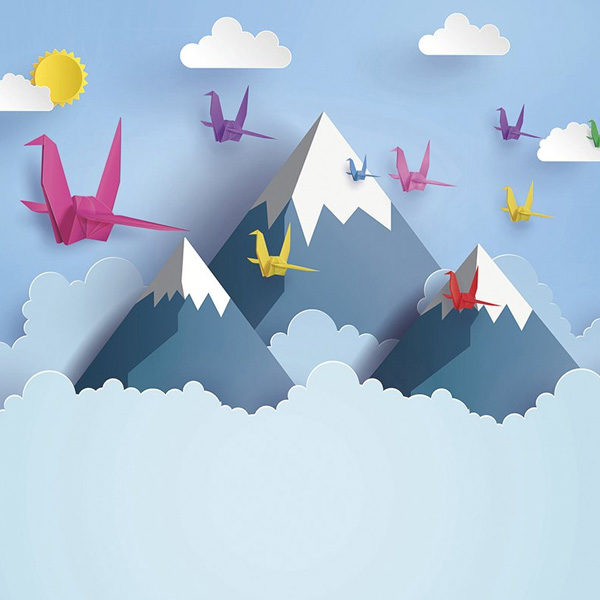 Origami-Mountains-3D-Wall-Mural-XLWS0349-close-up