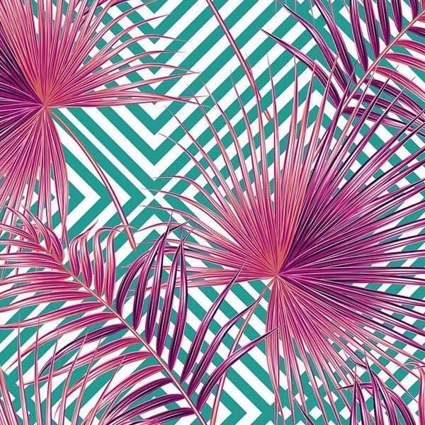 Pink-Palm-Leaves-Wall-Mural-XLWS0216-close-up