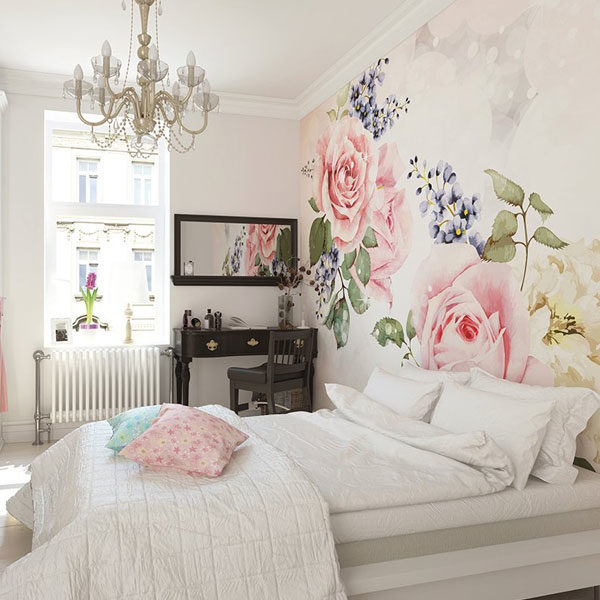 Roses-And-Sparkles-Wall-Mural-XLWS0202-in-bedroom