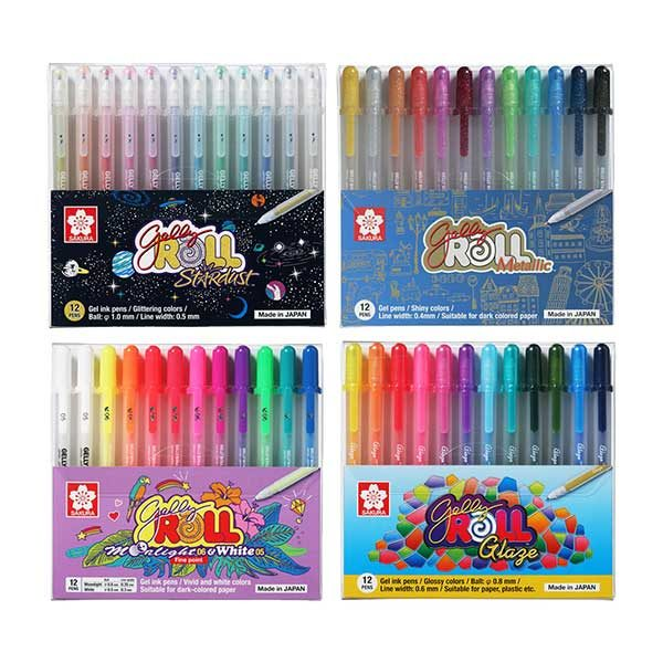 Sakura-Gelly-Roll-Combo-Set-4x12-Pen-Sets