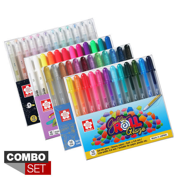 Sakura-Gelly-Roll-Combo-Set-4x12-Pen-Sets new