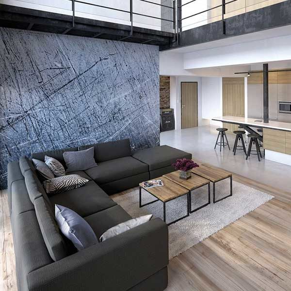Scratched-Metal-Wall-Mural-XLWS0249-in-living-room