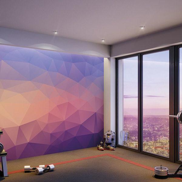 Shades-of-Geometric-Wall-Mural-XLWS0360-in-gym-studio