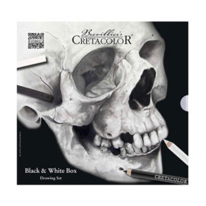 Skull-Edition-Black-and-White-Drawing-Tin-Set-by-Cretacolor