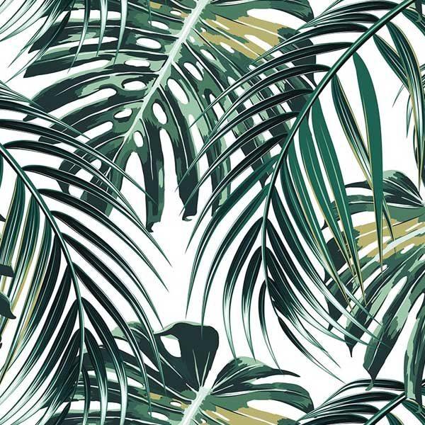 Tropical-Palm-Leaves-Wall-Mural-XLWS0211-close-up