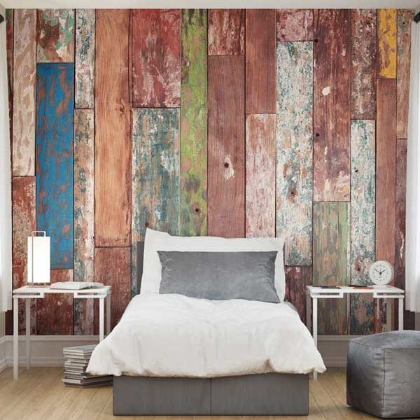 Weathered-Wood-Texture-Wall-Mural-XLWS0031-in-a-bedroom-scene