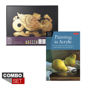 Combo-Set-Galeria-Acrylic-Gift-Set-and-Walter-Foster-Painting-In-Acrylic-Book