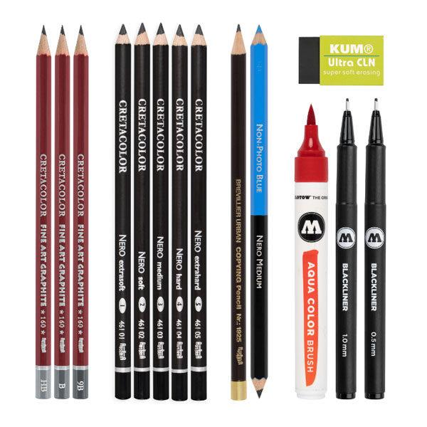 Cretacolor-Tattoo-Sketching-Set-contents