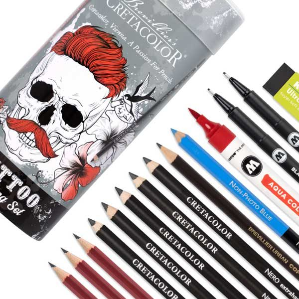Cretacolor-Tattoo-Sketching-Set-contents-with-packaging-02
