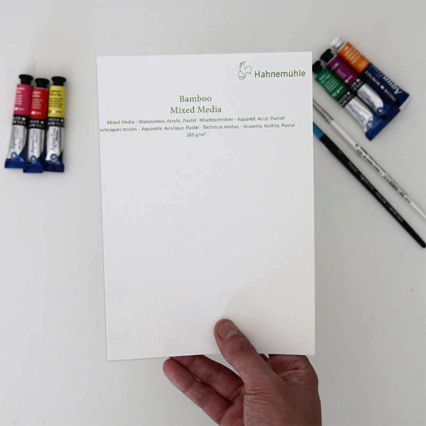 Hahnemuhle-Bamboo-Multi-Media-Paper-A5-Sampler-in-hand