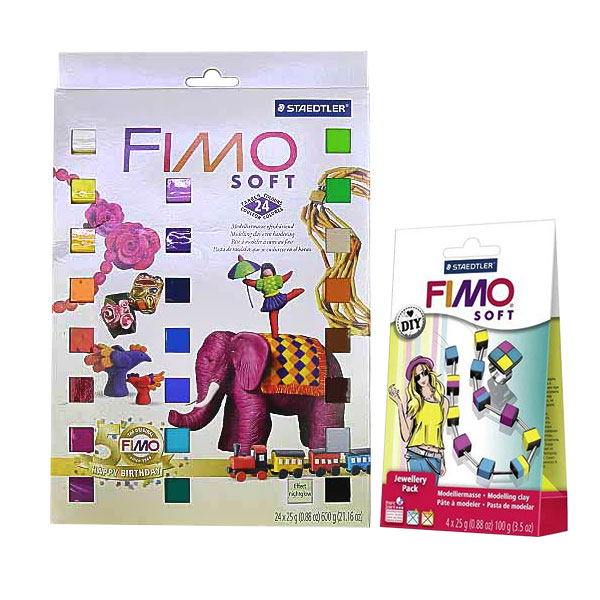 FIMO-Soft-24pc-Modelling-Clay-Set-including-a-FREE-FIMO-Soft-Do-It-Yourself-Jewellery-Pack