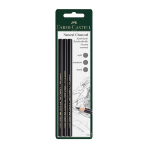 Faber-Castell-Oil-free-Pitt-Natural-Charcoal-Pencil-3pc-set