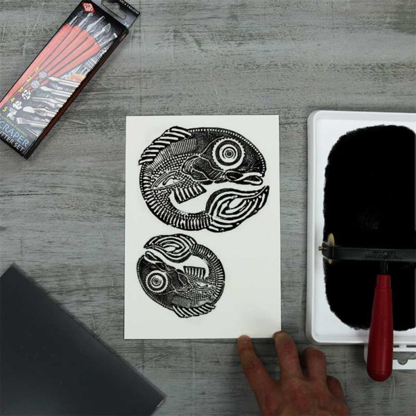 Fabriano Tiepolo Paper Test Pack with printmaking
