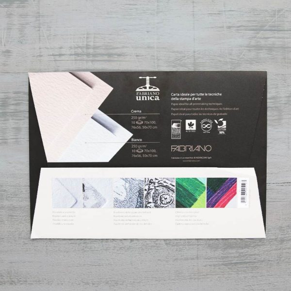 Fabriano Unica Paper Test Pack in packaging back view