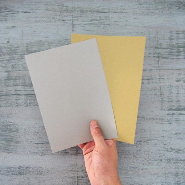 Fabriano_Toned-Paper_Sample Sheets in hand