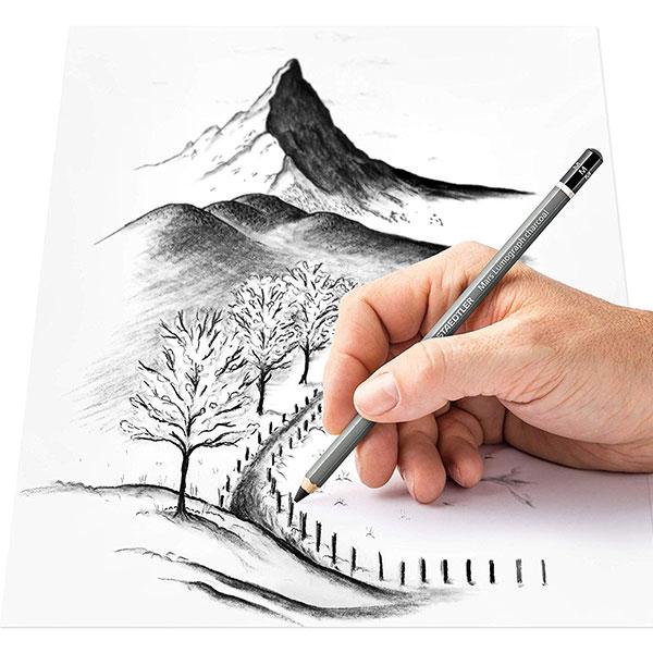 Mars-Lumograph-charcoal-100C-Pencils-Sketch