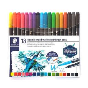 Staedtler-Double-ended-Watercolour-Brush-18-Pen-Set