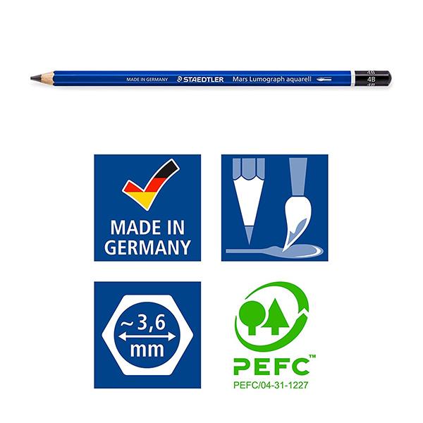 Staedtler-Mars-Lumograph-Aquarell-Graphite-Penci-specificationsl