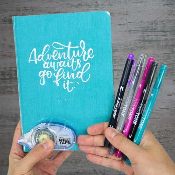 Tombow Travel Journal Set in hand