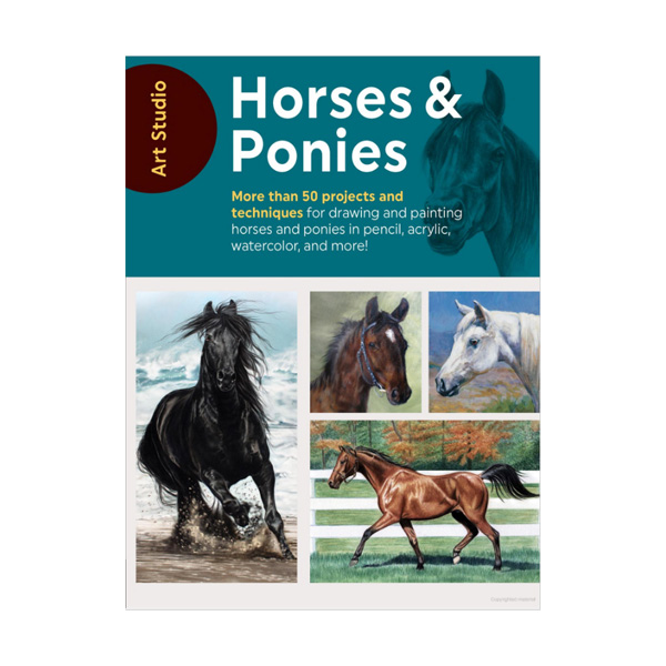 Walter-Foster-Art-Studio-Book-Horses-&-Ponies-Book-Cover-Page