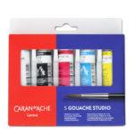 Caran DAche Gouache Studio Tube Set of 5 Primary colours
