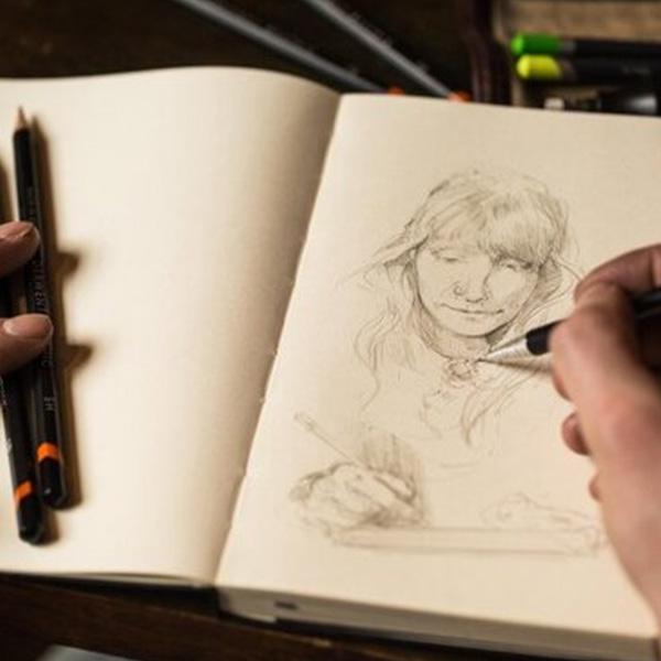 Derwent-Precision-Mechanical-Pencil-sketch-done-in-journal