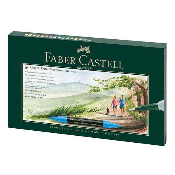 Faber-Castell-Albrecht-Durer-Watercolour-Marker-Gift-Wallet-Set-of-16