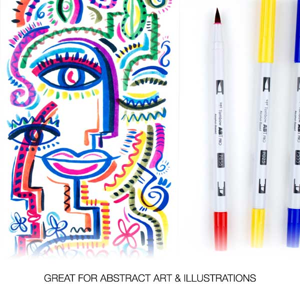 Tombow-ABT-Pro-Markers-GREAT-FOR-ABSTRACT-ART-&-ILLUSTRATIONS