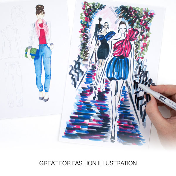 Tombow-ABT-Pro-Markers-GREAT-FOR-FASHION-ILLUSTRATION