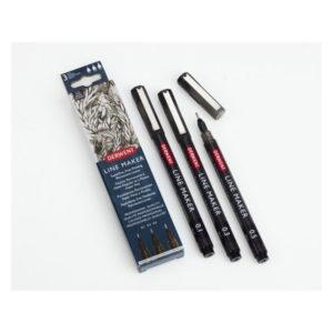 Derwent-Line-Maker-Black-set-of-3-pens