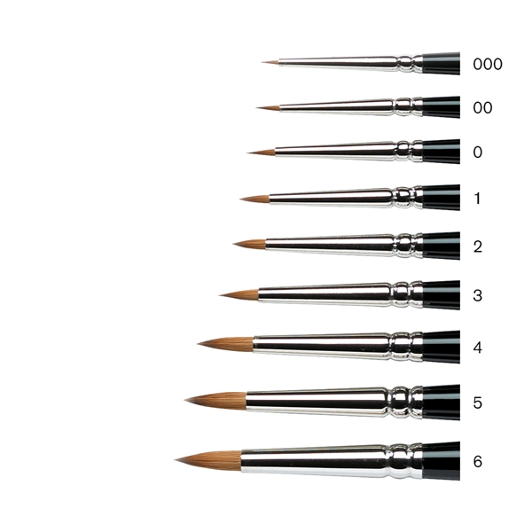 Winsor-&-Newton-MINIATURE-SERIES-7-KOLINSKY-SABLE-ROUND-BRUSH-SIZES