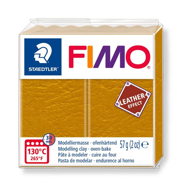 Fimo-57g-Leather-Effect-Ochre-colour