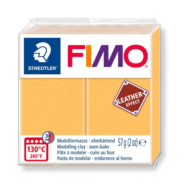 Fimo-57g-Leather-Effect-Saffron-Yellow-colour