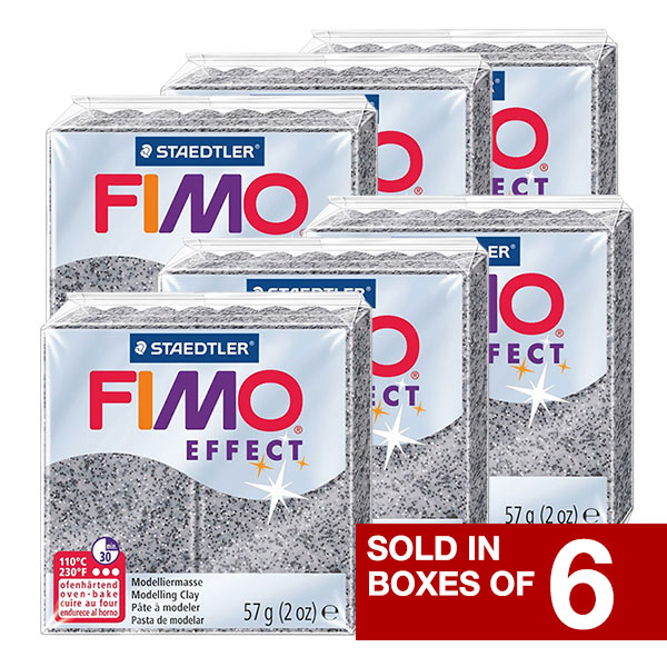 FIMO Effect Polymer Oven Modelling Clay Set of 6 Pastel Finish 6 x 2 oz Blocks