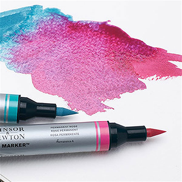 Winsor-&-Newton-Water-Colour-Markers-ink-sample-on-paper