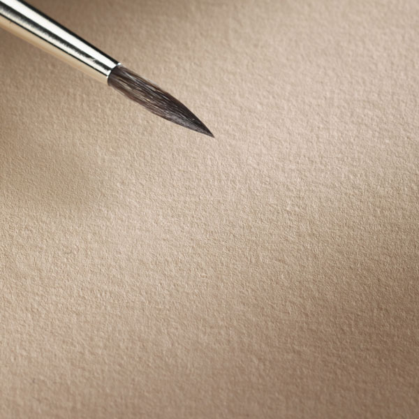 Hahnemuhle-Toned-Watercolour-Book-Beige-Paper-Texture-with-a-brush