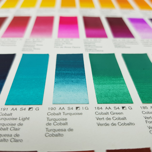 Winsor-and-Newton-Professional-Water-Colour-Hand-Painted-Colour-Chart-Green-Shades-Close-Up