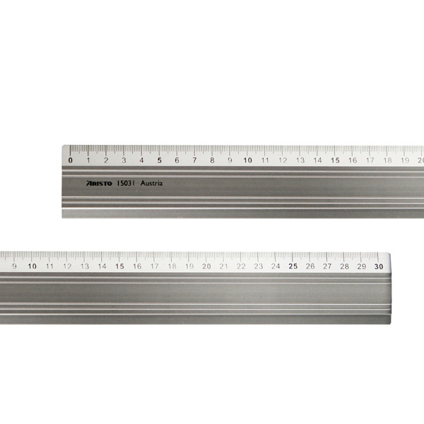 Aristo-Aluminum-ruler-30cm-long-with-rubberpad