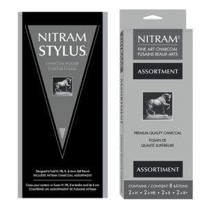 Nitram-Stylus-Charcoal-Holder-and-Nitram-Charcoal-Assortment-in-packaging