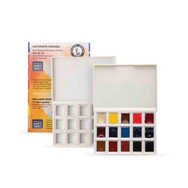 Ultimate-Mixing-Set-of-15-Half-Pans-in-Plastic-Box-+-Bonus-Plastic-box-and-15-Empty-Half-Pans