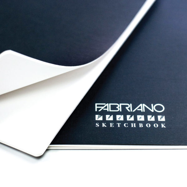 Close up of a Fabriano Accademia Sketchbook paper sheets