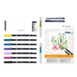 Tombow-Have-Fun-at-Home-Watercoloring-Set-contents-laid-out