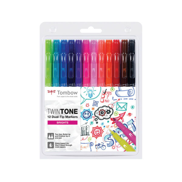 Tombow TwinTone Marker Set - Bright