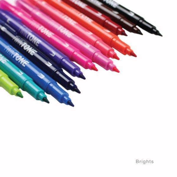 Tombow TwinTone Marker Set - Bright - open