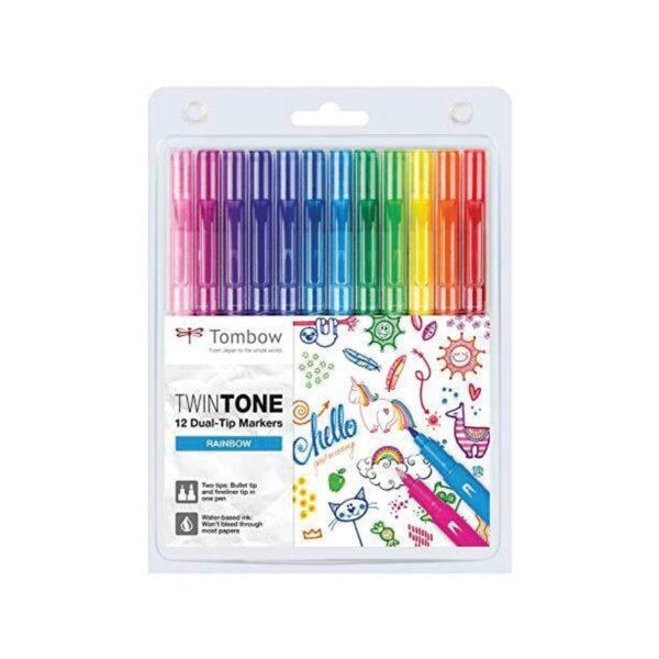 Tombow TwinTone Marker Set - Rainbow