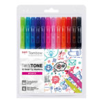 Tombow-TwinTone-set-of-12-Brights-Colors-ws-pk-12p-1
