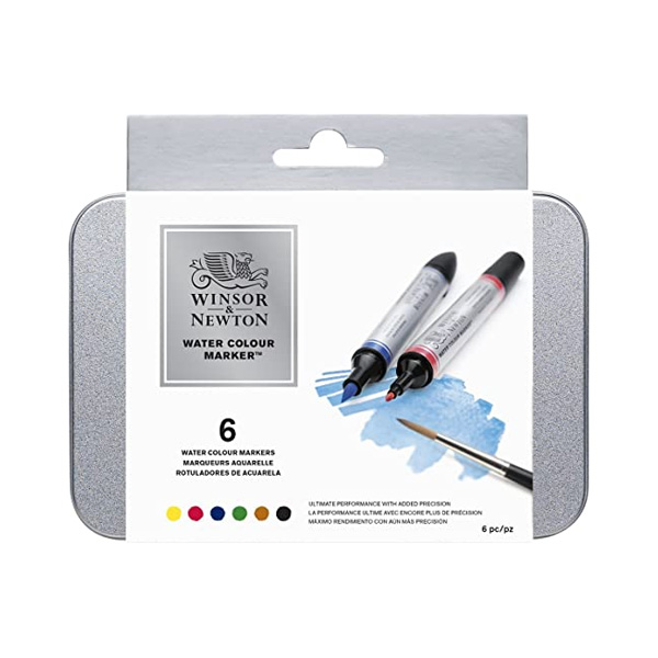 Winsor-and-Newton-Water-Colour-Marker-Set-of-6-884955033081