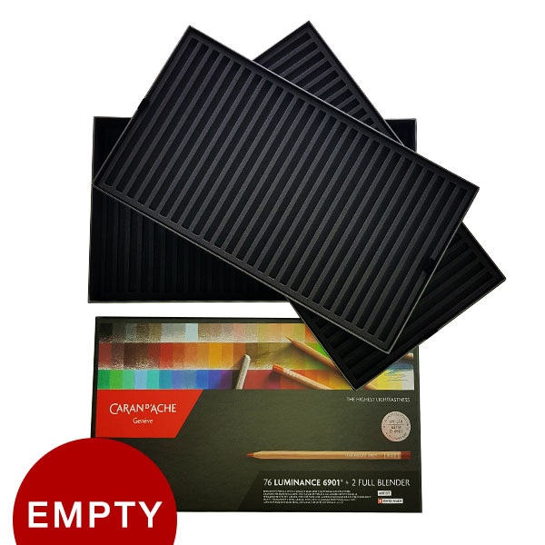 Caran-dAche-Luminance-6901-Colored-Pencil-Empty-Box-Holder