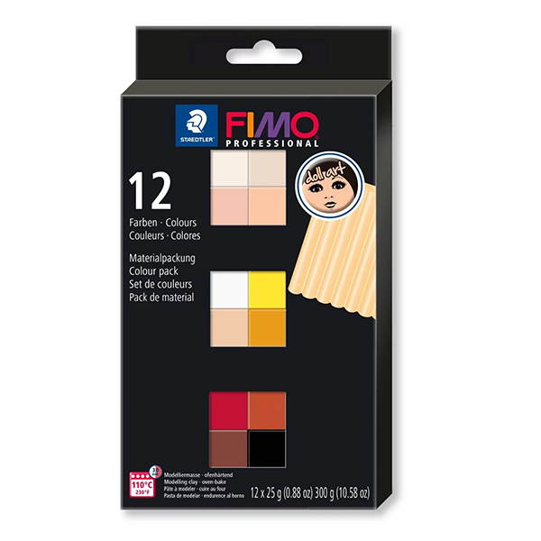 Staedtler-FIMO-Professional-Doll-Art-Modeling-Clay-12-Colour-Pack